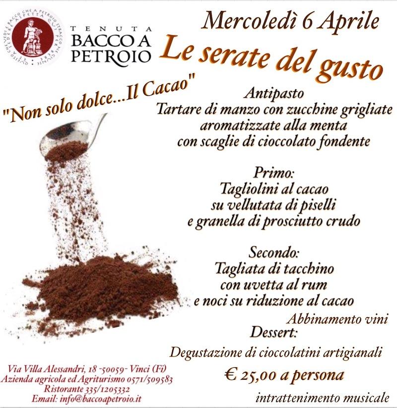 serata del cacao