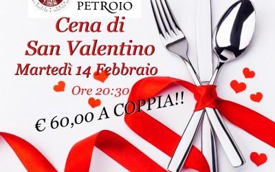 Cena di San Valentino 14 Febbraio 2017 da Bacco a Petroio